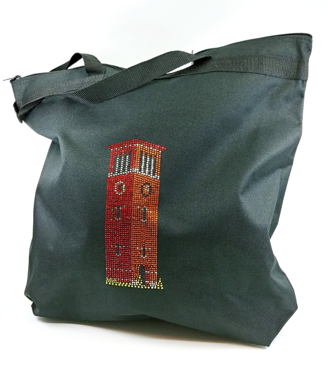 rhinestone Miller Bell Tower tote bag