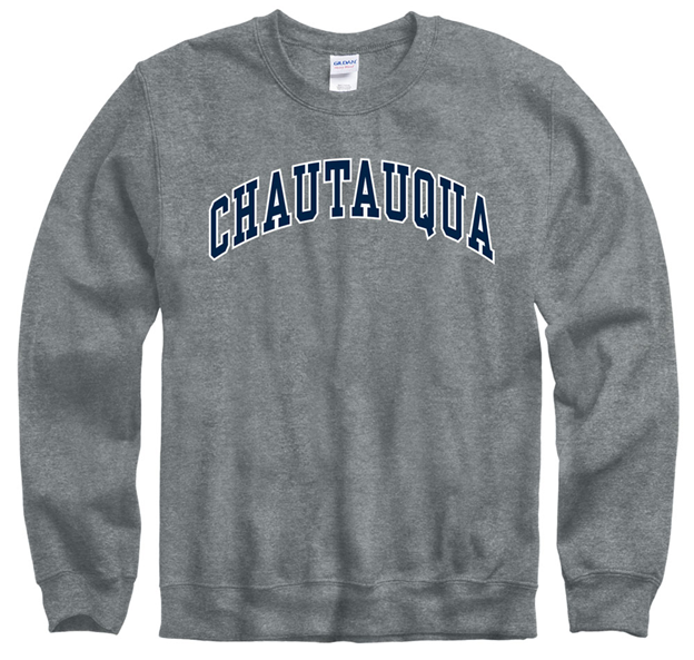 CHAUTAUQUA arch crew neck sweastshirt in graphite (heathered gray)