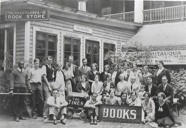 Chautauqua Bookstore employees circa 1930