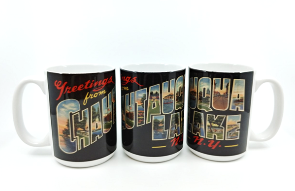 'Greetings from CHQ Lake' mug