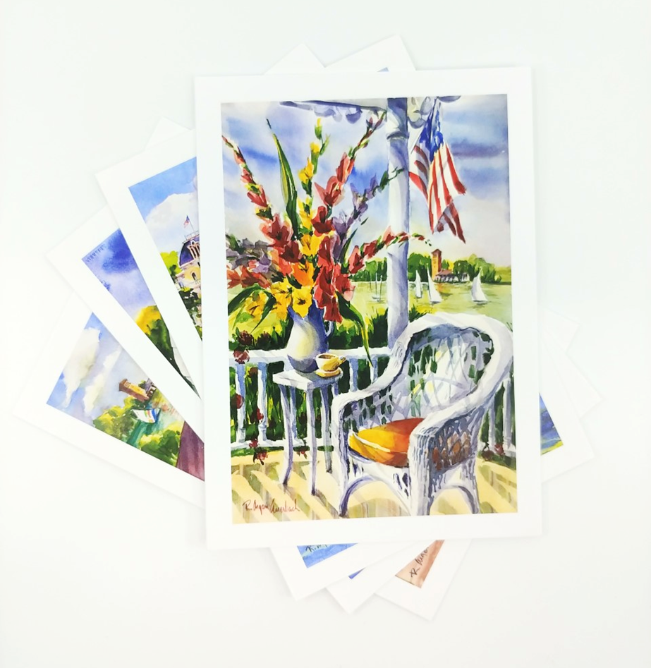 displayed notecards by Rita Auerbach
